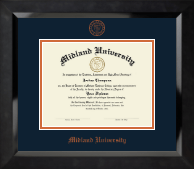 Orange Embossed Diploma Frame in Eclipse