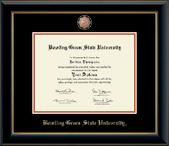 Masterpiece Medallion Diploma Frame in Onyx Gold