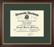 Honorable Discharge Certificate Frame in Studio Gold