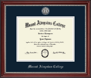Silver Engraved Medallion Diploma Frame in Kensington Silver