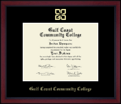 Gold Embossed Academy Edition Diploma Frame in Academy
