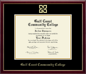 Gold Embossed Diploma Frame in Galleria