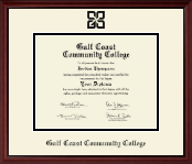 Black Embossed Diploma Frame in Camby