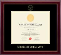 School of Visual Arts Gold Embossed Diploma Frame in Gallery
