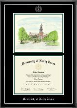 Campus Scene Diploma Frame in Onyx Silver