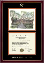 Campus Scene Diploma Frame - Nassau Hall in Gallery
