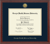 Gold Engraved Diploma Frame in Signature