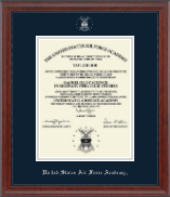 Silver Embossed Diploma Frame in Signature