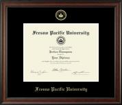Fresno Pacific University Gold Embossed Diploma Frame in Studio