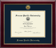Fresno Pacific University Gold Engraved Medallion Diploma Frame in Gallery
