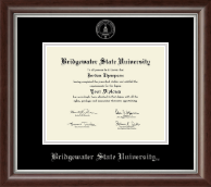 Bridgewater State University  Silver Embossed Diploma Frame in Devonshire