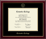 Catawba College Gold Embossed Diploma Frame in Gallery