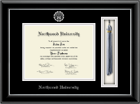 Tassel Edition Diploma Frame in Onyx Silver