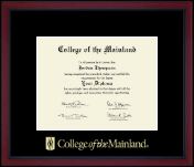 Gold Embossed Achievement Academy Diploma Frame in Academy