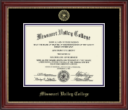 Gold Embossed Diploma Frame in Kensington Gold