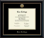 Gold Engraved Medallion Diploma Frame in Onyx Gold
