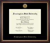 Gold Engraved Medallion Diploma Frame in Lancaster