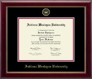 Indiana Wesleyan University  Gold Embossed Diploma Frame in Gallery
