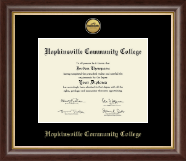 Hopkinsville Community College at Kentucky Gold Engraved Medallion Diploma Frame in Hampshire