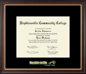 Hopkinsville Community College at Kentucky Gold Embossed Diploma Frame in Studio Gold