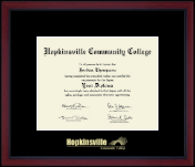 Hopkinsville Community College at Kentucky Gold Embossed Achievement Edition Diploma Frame in Academy