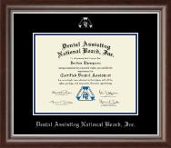 Dental Assisting National Board, Inc. Silver Embossed Certificate Frame in Devonshire