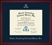 Dental Assisting National Board, Inc. Achievement Edition Certificate Frame in Academy