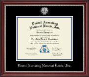 Silver Medallion Certificate Frame in Kensington Silver