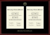 Double Document Diploma Frame in Camby