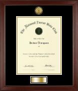 Gold Engraved Medallion Certificate Frame in Sierra