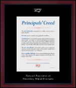 Silver Embossed Certificate Frame in Academy