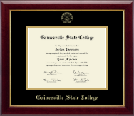 Gainesville State College Gold Embossed Diploma Frame in Gallery
