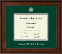 Gainesville State College Presidential Silver Engraved Diploma Frame in Madison