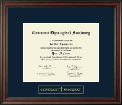 Covenant Theological Seminary Gold Embossed Diploma Frame in Studio