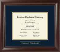 Covenant Theological Seminary Gold Embossed Diploma Frame in Rainier