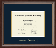 Covenant Theological Seminary Gold Embossed Diploma Frame in Hampshire