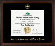 Gold Embossed Certificate Frame in Studio Gold