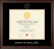 School of Visual Arts Gold Embossed Diploma Frame in Studio
