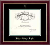 Alpha Omega Alpha Honor Society Double Matted Embossed Frame in Gallery