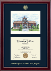 Powell Library Campus Scene Edition Diploma Frame in Gallery