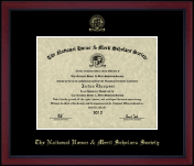 Gold Embossed Achievement Edition Certificate Frame in Academy