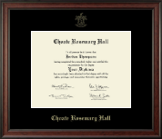 Choate Rosemary Hall Gold Embossed Diploma Frame in Studio