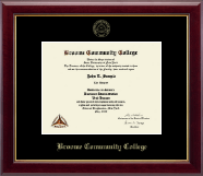 Broome Community College Gold Embossed Diploma Frame in Gallery