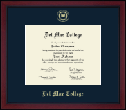 Del Mar College Gold Embossed Achievement Edition Diploma Frame in Academy