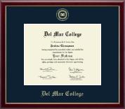 Del Mar College Gold Embossed Diploma Frame in Galleria