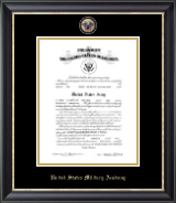 Masterpiece Medallion Commission Certificate Frame in Noir