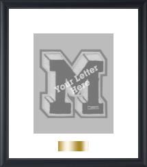 Gold Plate Varsity Letter Vertical Frame in Omega