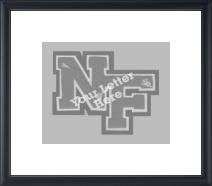 Varsity Letter Horizontal Frame in Omega