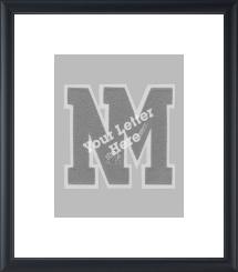 Varsity Letter Vertical Frame in Omega
