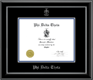 Embossed Certificate Frame in Onyx Silver